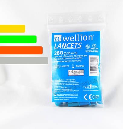 Ланцеты для глюкометров Wellion(28G), фото 2