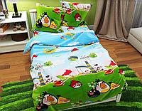 """Детское постельное белье """"Angry Birds"""" ранфорс Турция"""