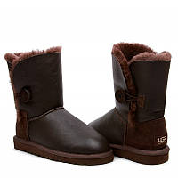 Натуральные угги UGG Australia (Угги Оригинал) Bailey Button Metalic Chocolate. Model: 5838