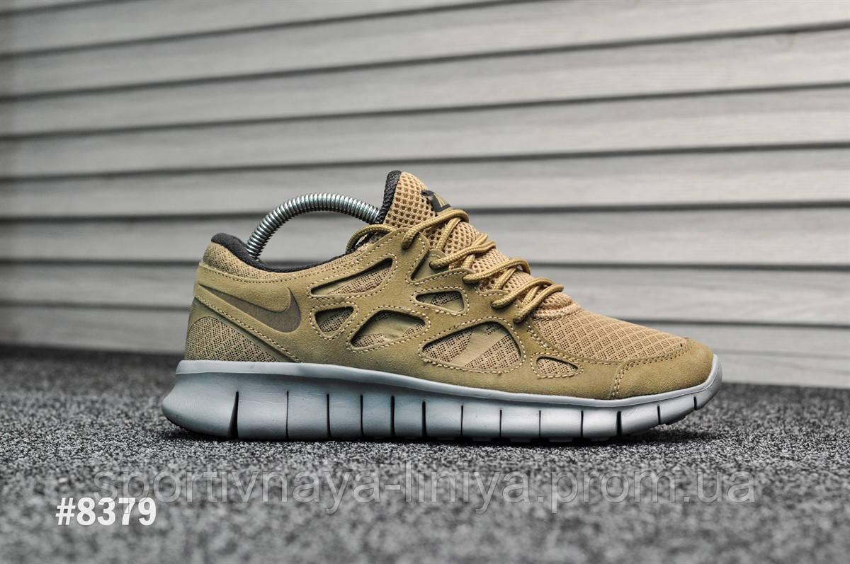 Мужские кроссовки Nike Free Run Brown (Найк Фри Ран  (Реплика Топ качества )