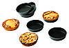 Набор форм для выпечки 10х2 см., 12 шт. круглые, сталь (для тарта) Exal, Matfer