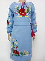 Блакитне вишите плаття для дівчинки e3bf22891f9d0
