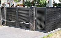 Розпашні ворота жалюзі з ламелей 4000х2000, фото 1