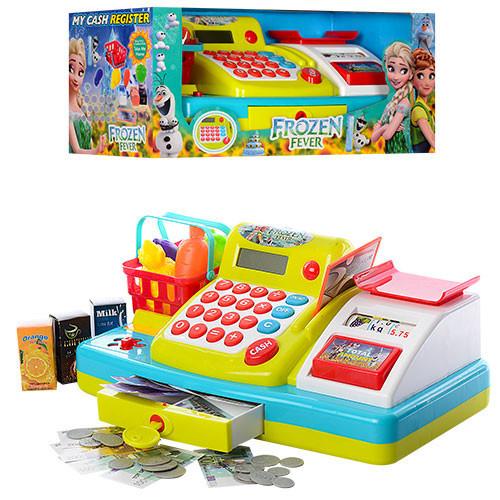 Детский кассовый аппарат с весами, калькулятором, продуктами (Frozen)