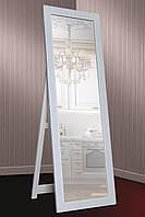 Зеркало напольное Factura в пластиковом багете с опорной деревянной подставкой 60х174 см белое, фото 1