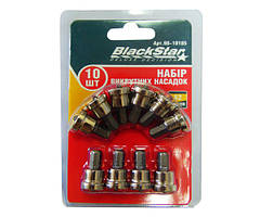 Биты PH2x25 мм з обмежувачем, TORSION, S2-сталь,10шт, BlackStar 90-10185