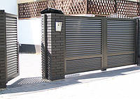 Розпашні ворота жалюзі з ламелей 3500х2000, фото 1