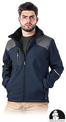 Захисна Куртка від дощу і вітру робоча чоловіча синя Lebber&Hollman Польща (спецодяг) LH-HORN GS