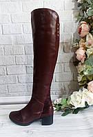 Женские кожаные ботфорты, фото 1