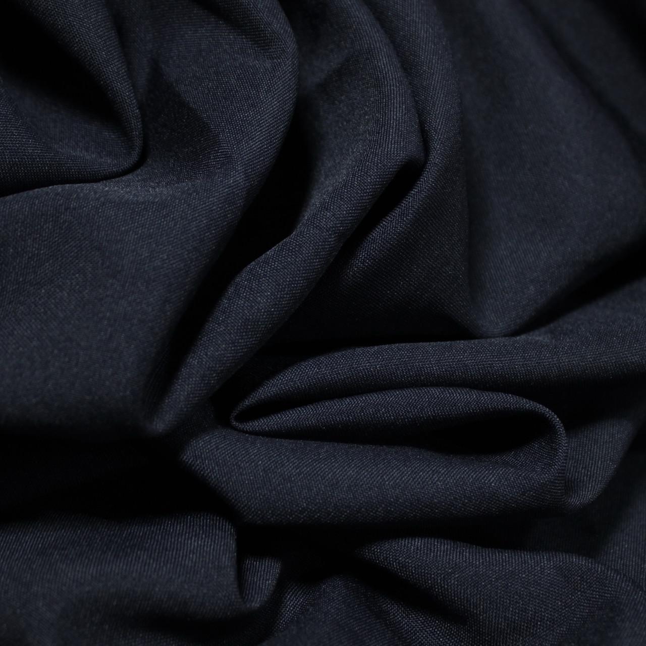 Костюмная ткань габардин темно- синий