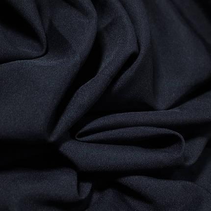 Костюмная ткань габардин темно- синий, фото 2