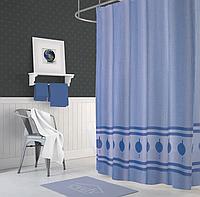 Шторка в ванную KUŞAK V - 1 (голубая)