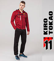 Kiro Tokao 483   Спортивный мужской костюм красный-черный