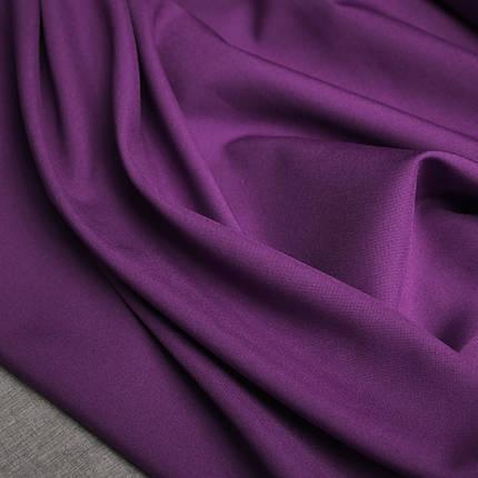 Костюмная ткань габардин фиолетовый, фото 2