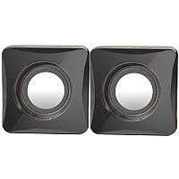 Мини-колонки Defender G101 черные для компьютера ноутбука стерео USB 2.0 jack 3.5 мультимедийные музыкальные