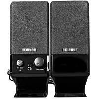 Универсальные колонки EDIFIER R10U USB черные для просмотра фильмов прослушивания музыки игр с регуляторами