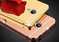Чехол зеркальный, рамка алюминий, зеркало акрил   для  Meizu M5s