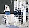 Шторка в ванную PUAN V-1 (голубая)