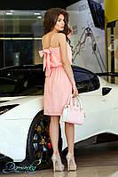 """Платье из льна с бантом на спине """"Love story"""" 11733 R #O/V"""