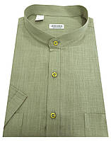 Мужская рубашка с коротким рукавом  №10-34 - Flamli 7