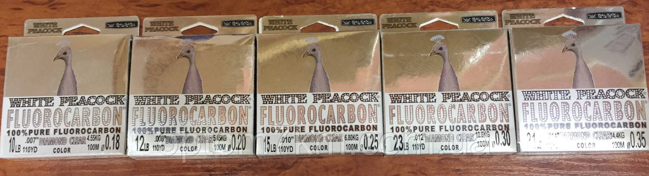 Леска White fishing Fluorocarbon  100 m 0.35m