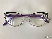 Очки женские в комбинированной оправе. Модель 6815 фиолетовые, фото 1