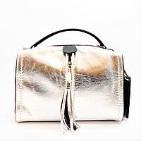 ef66e56c53ea Эксклюзивная Итальянская женская кожаная сумочка серебристого цвета в руку  GME-017900