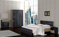 Спальня Рино Серый глянец сонома