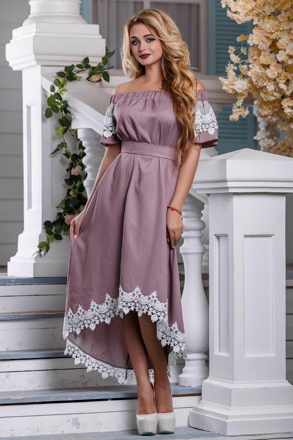 Повседневное длинное летнее платье Д-1327