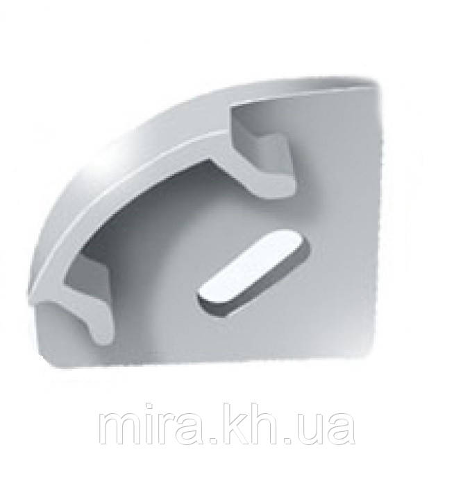 Заглушка ЗПУО17 с отверстием для углового профиля ЛПУ17 17х17мм