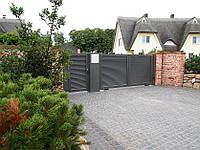 Розпашні ворота жалюзі з ламелей 5000х2500, фото 1