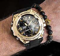 Мужские спортивные часы Casio G-Shock G-Steel Gold копия