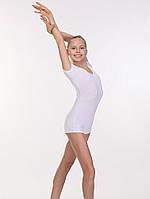 Купальник трико боди короткий рукав- шорты для гимнастики и хореографии