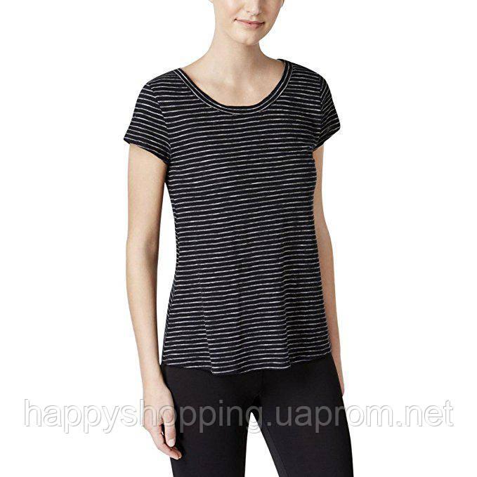 Женская черная футболка в полоску Calvin Klein