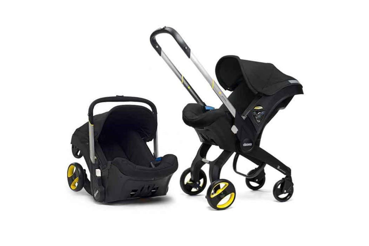 Детская коляска-автокресло FooFoo Черная