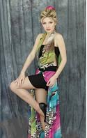 Сарафан женский  длинный в пол молодежный, сарафан летний нарядный шифоновый , фото 1