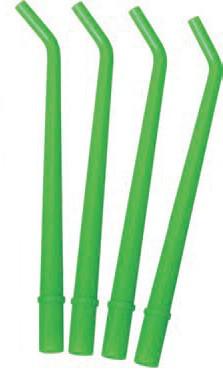 Аспіраційні наконечники для слюновідсмоктувача TPC (large, зелені)