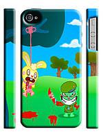 Чехол для iPhone 4/4s/5/5s/5с/ 6  happy tree friends / веселые лесные друзья