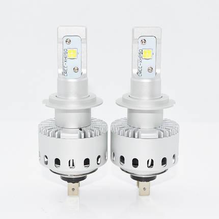 Светодиодная лампа 7S цоколь H7, CREE GSP 6000К, 8000 lm 40W, 9-36В, фото 2