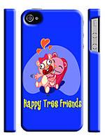 Чехол для iPhone 4/4s/5/5s/5с/ 6  happy tree friends / веселые лесные друзья крепкие объятия