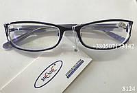 Женские очки, оправа металлическая, линзы с антибликом. Модель 8124 фиолетовые, фото 1