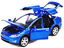Коллекционный автомобиль Tesla Model X 90 (синий), фото 2