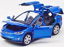 Коллекционный автомобиль Tesla Model X 90 (синий), фото 5