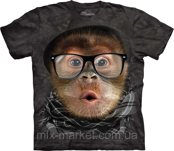 Футболка The Mountain - Hipster Orangutan Baby - 2014