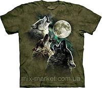 Футболка The Mountain - Three Wolf Moon in Olive - 2014