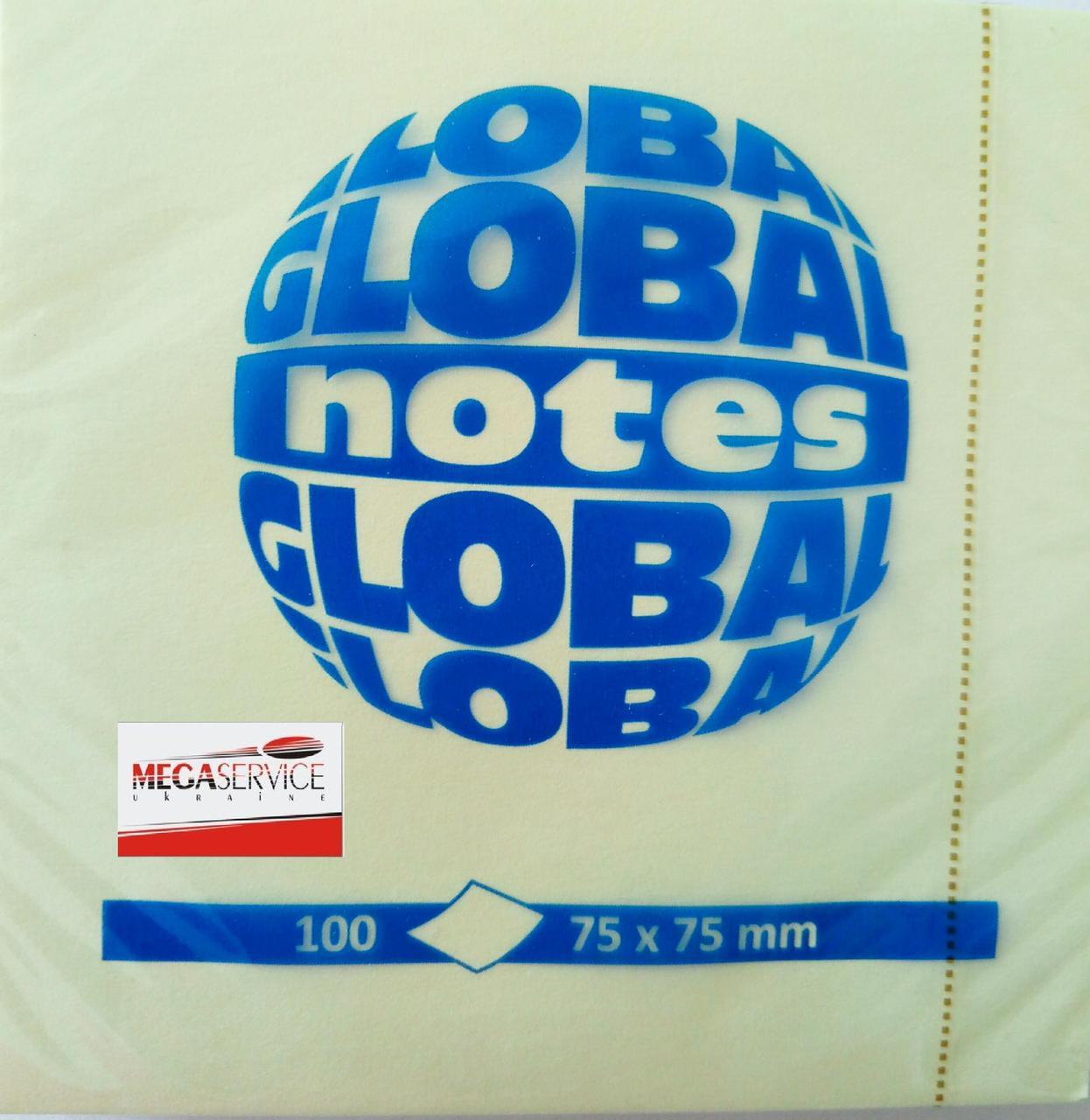 Бумага клейкая 75х75 Global Notes 100 листов