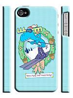 Чехол для iPhone 4/4s/5/5s/5с/ 6  happy tree friends  лось на лыжах новогодний