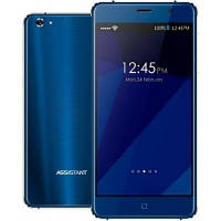 "Смартфон Assistant AS 5435 Shine 1/16Gb Blue, 8/5Мп, 5"" IPS, 2000mAh, 2sim, MT6580, 4 ядра, 3G, Чехол, 12 мес., фото 1"