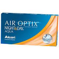 Контактные линзы 30 дней не снимая Air Optix Night&Day Aqua