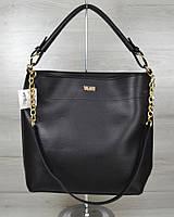 """Женская сумочка """"Цепочка"""". Черный цвет"""